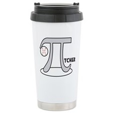 Funny Baseball Pi-Tcher Travel Coffee Mug