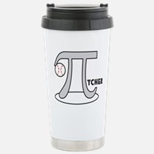 Funny Baseball Pi-Tcher Travel Mug