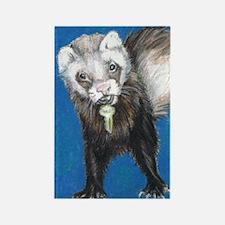 """Ferrets' Innocence"" - Rectangle Magnet"