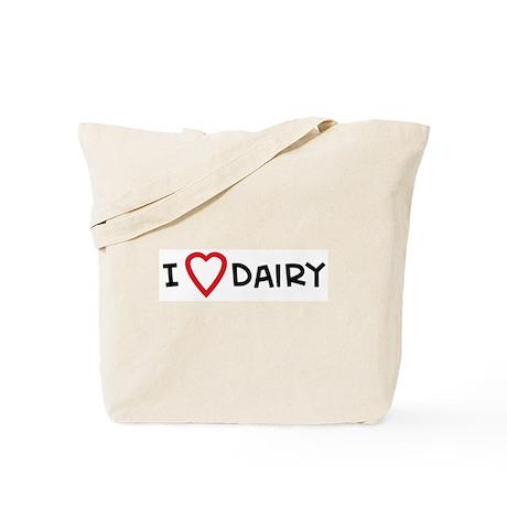 I Love Dairy Tote Bag