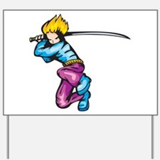 Anime Fighter Yard Sign