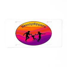 Skinnydipper Logo Aluminum License Plate