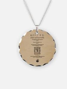 Romeo & Juliet Quarto (1599) Necklace