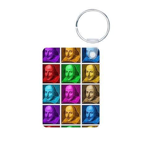 Shakespeare Pop Art Aluminum Photo Keychain