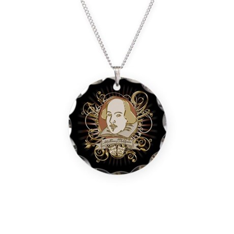 Shakespeare Crest Necklace Circle Charm