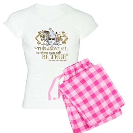 "Hamlet ""Be True"" Quote Women's Light Pajamas"