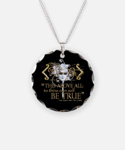 "Hamlet ""Be True"" Quote Necklace"