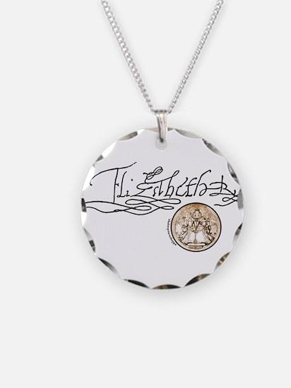 Elizabeth I Signature Necklace Circle Charm