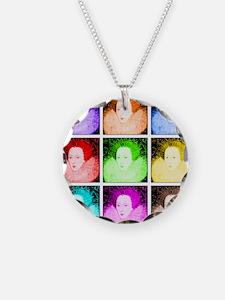 Pop Art Elizabeth I Necklace Circle Charm