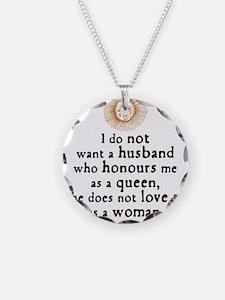 Elizabeth Marriage Quote Necklace