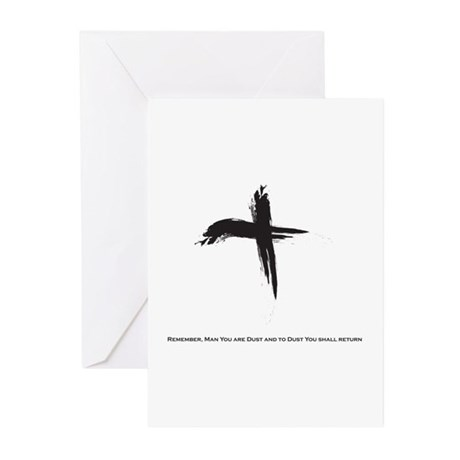 """""""Ash Wednesday"""" Greeting Cards (Pk of 10)"""