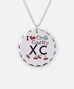 I heart Cross Country Necklace