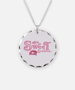 Sweet 16 Car Heart Necklace