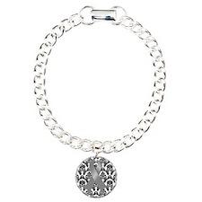 Damask Gray Ribbon Bracelet