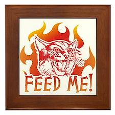 Hungry Cat Framed Tile