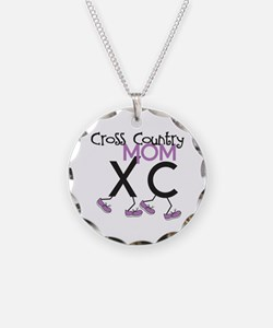 Cross Country Mom Necklace Circle Charm