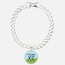 Cross Country Mom Charm Bracelet, One Charm