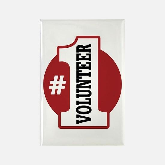 #1 Volunteer Rectangle Magnet