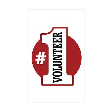 #1 Volunteer Sticker (Rectangle)