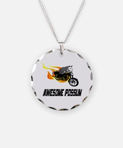 Flaming Awesome Possum Necklace