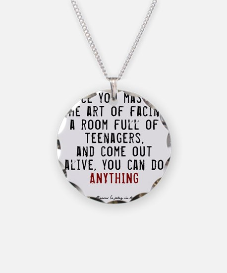 Teacher Quote Necklace Circle Charm