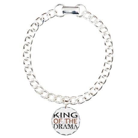 """King of the Drama"" Charm Bracelet, One Charm"