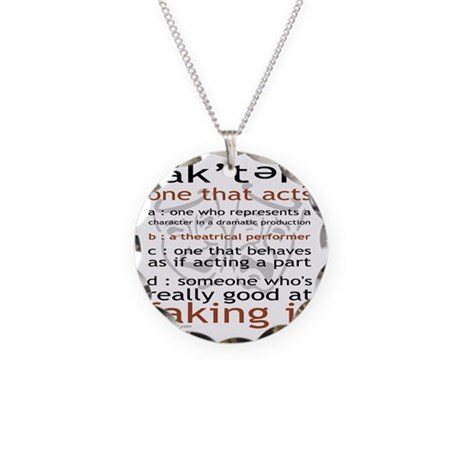 Actor (ak'ter) Meaning Necklace Circle Charm