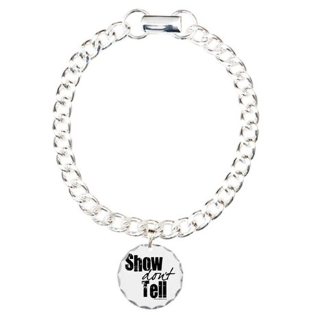 Show don't Tell Charm Bracelet, One Charm