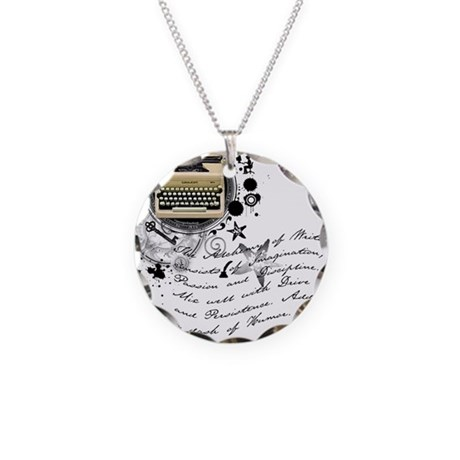 The Alchemy of Writing Necklace Circle Charm