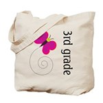 Bright Butterfly Third Grade Tote Bag