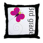 Bright Butterfly Third Grade Throw Pillow