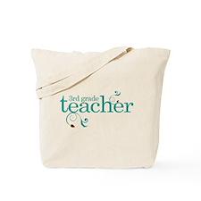 3rd Grade Teacher Swirl Tote Bag