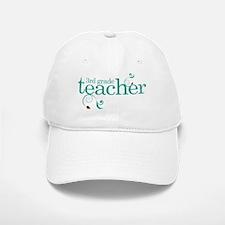 3rd Grade Teacher Swirl Baseball Baseball Cap