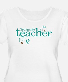 3rd Grade Teacher Swirl T-Shirt