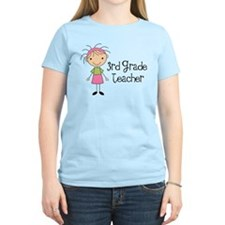 3rd Grade Stick Figure Teacher T-Shirt