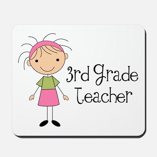3rd Grade Stick Figure Teacher Mousepad
