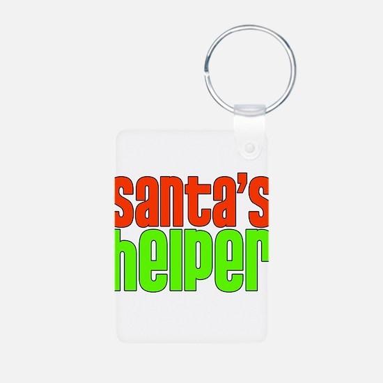 Santa's Helper Aluminum Photo Keychain