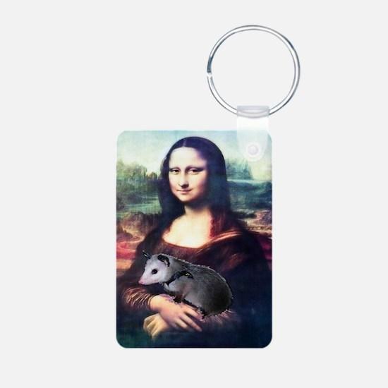 Mona Lisa Possum Aluminum Photo Keychain