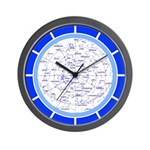 STAR MAPS:  S. Hemisphere Wall Clock