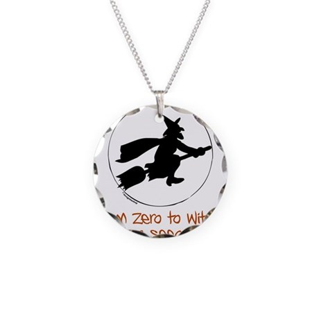 Zero to Witch Necklace Circle Charm