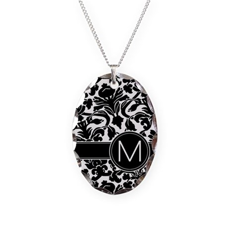 monogram items Necklace Oval Charm