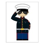 Cute Marine Officer in Shades Poster
