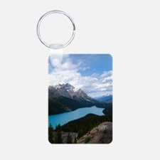 Glacial Lake and Flowers Keychains