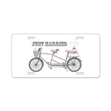 Tandem Bicyle Wedding Aluminum License Plate