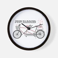 Tandem Bicyle Wedding Wall Clock