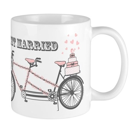 Tandem Bicyle Wedding Mug