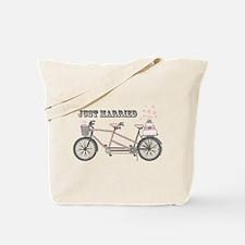 Tandem Bicyle Wedding Tote Bag