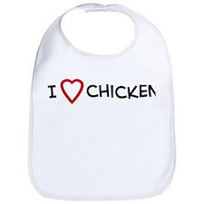 I Love Chicken Bib