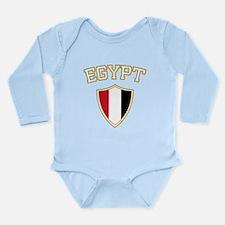 Egypt Crest English Long Sleeve Infant Bodysuit