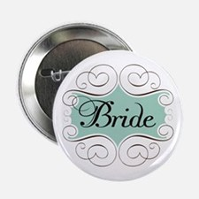 "Beautiful Bride Design 2.25"" Button"